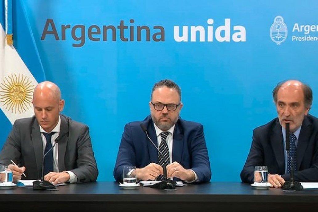 Guillermo Merediz, Matías Kulfas, Eduardo Hecker.