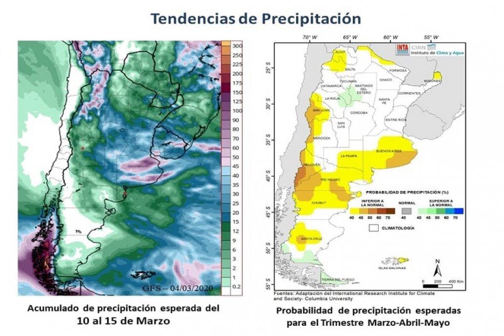 Estiman un trimestre con clima cambiante y lluvias irregulares