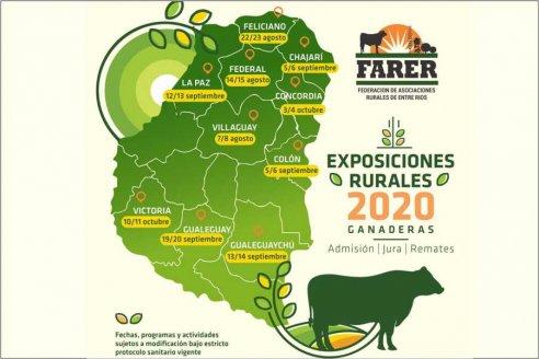 Exposiciones rurales entrerrianas 2020: por la pandemia serían principalmente ganaderas