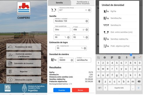 Crean una aplicación para calibrar sembradoras