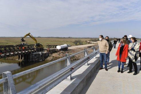 Bordet recorrió los nuevos puentes sobre el arroyo Don Cristóbal