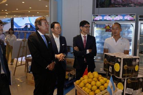 Se realizó en Shanghái la recepción oficial de los limones argentinos