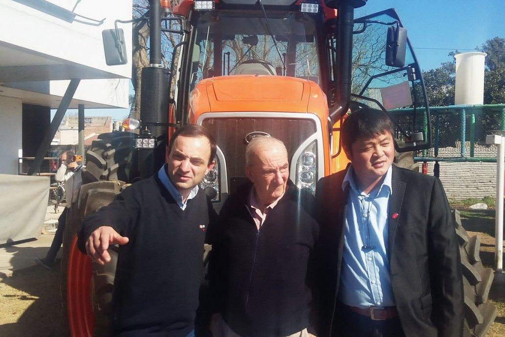 La foto es de 2018, cuando Zanello presentó su alianza con empresarios chinos.