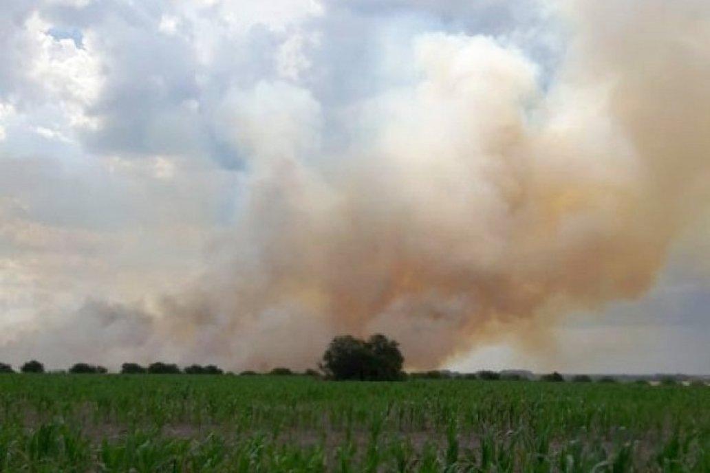 Se quemaron unas 300 hectáreas entre trigo por cosechar, rastrojo y monte