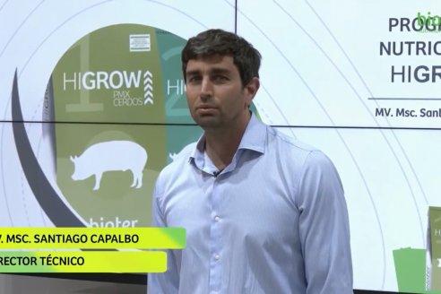 Bioter presentó su nuevo programa de nutrición HIGROW, para cerdos en etapa de engorde..