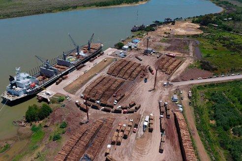Ya transportaron casi 500.000 toneladas de madera a China desde Puerto Ibicuy
