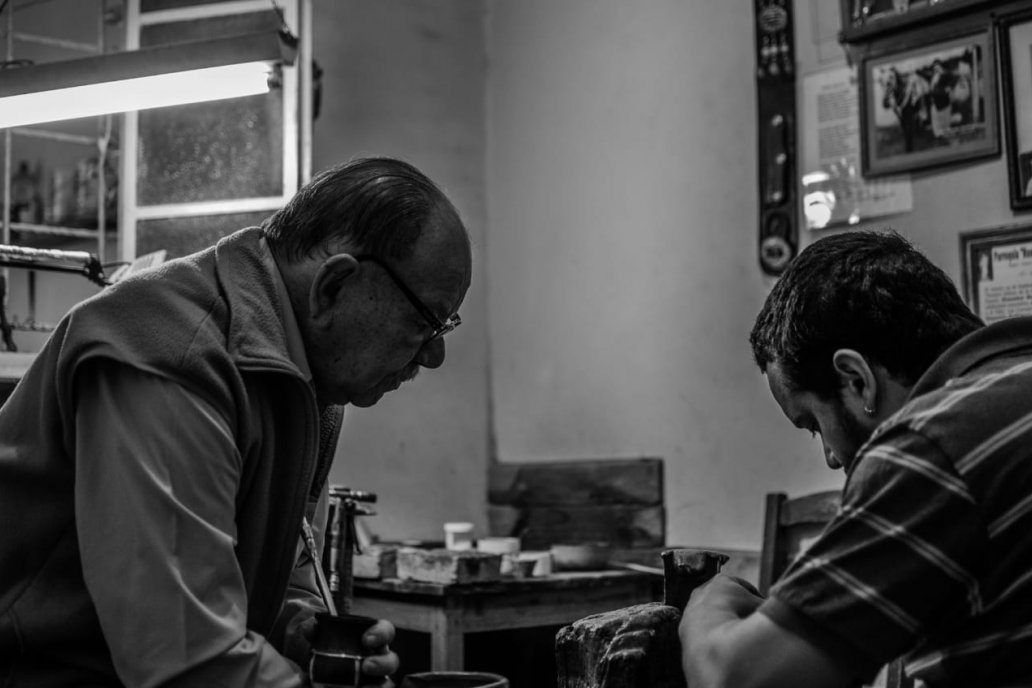 A los 13 años Martín empezó a trabajar en el taller de su abuelo, ya fallecido.
