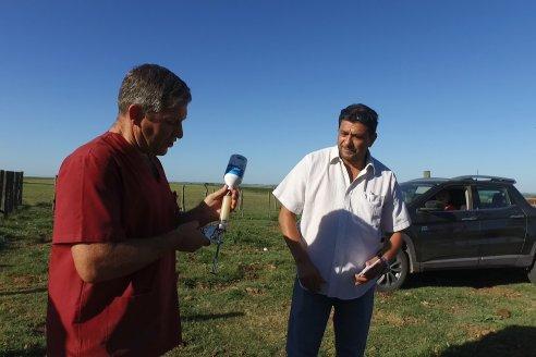 Rogelio Burne y Wilton Trossero - Visita a Establ. San Antonio en Costa Grande - Vacunación Pre Destete