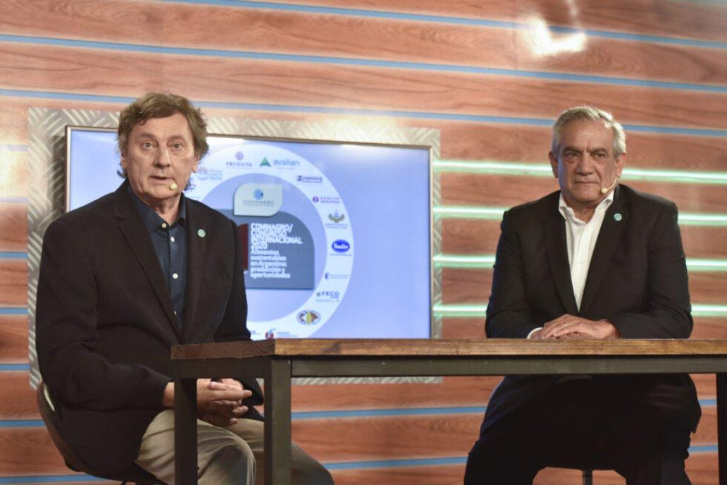 Kindebaluc y Iannizzotto en el último Congreso de Coninagro.