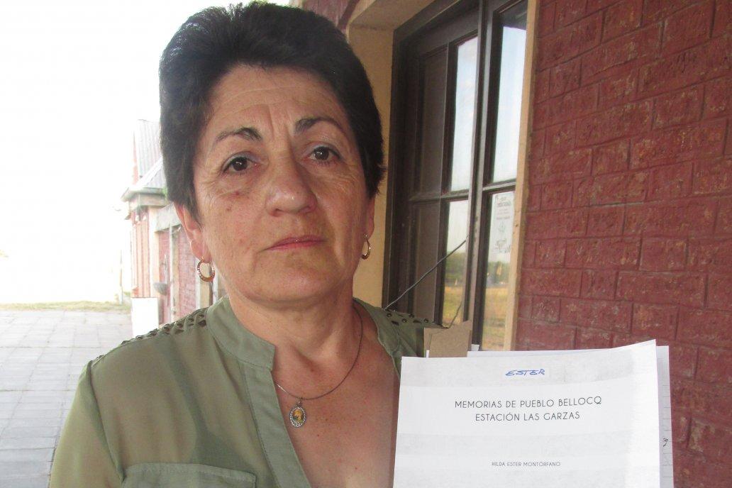 Ester Montórfano, docente jubilada y autora del libro que rescata la identidad.