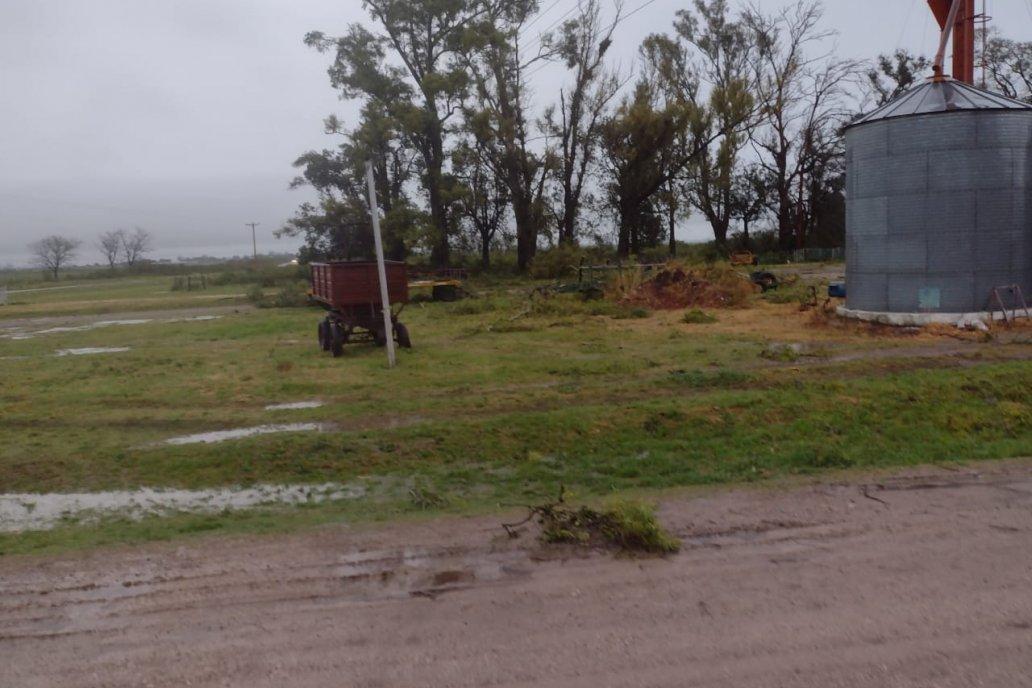 Las lluvias dejaron humedad y daños materiales menores en algunos campos.