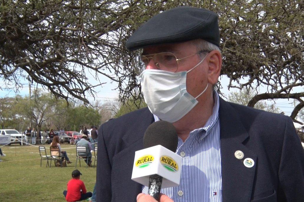 Sergio Pico, titular de la Rural de Feliciano, celebró la presencia de Braford.