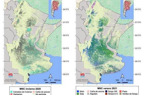 Presentan el tercer mapa nacional de cultivos extensivos