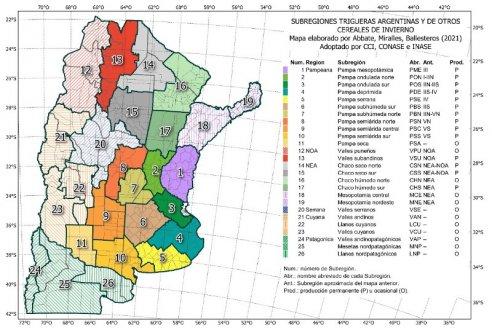 Luego de 69 años actualizan el mapa de cereales de invierno